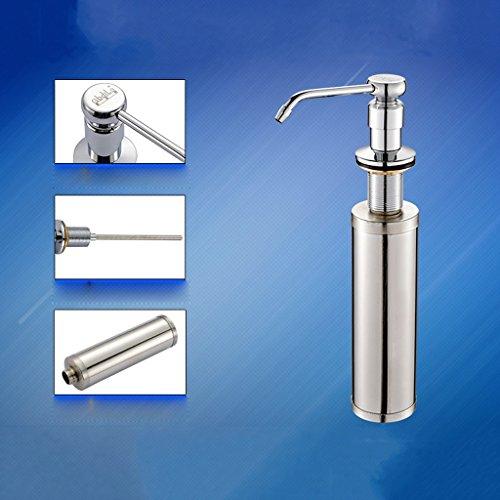 NYDZ Zeep Dispensers Spoelbak spoelbak zeep dispenser met wasmiddel flessen groenten wastafel accessoires koperen kop 304 roestvrij staal