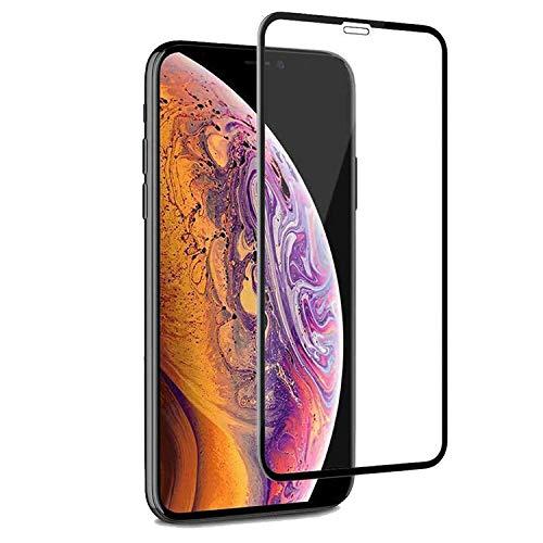 PR Smart® iPhone 11 Pro Full Glue 9D Ceramic Film Matte Edge To Edge Full Screen Protector (Not a Tempered Glass) (9D Transparent Glass Black Border)
