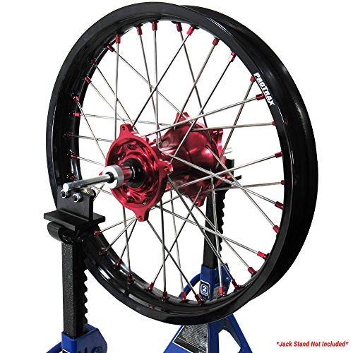 Pit Posse Motorcycle Wheel Balancer Portable Tire Balancing Tool for Your Trailer Shop Garage – Easy to Store – Accurate–Bike Balance Accessories