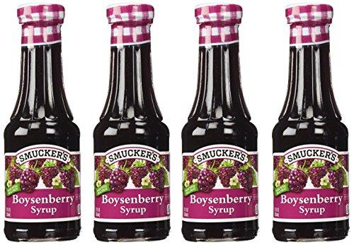 Smucker's BOYSENBERRY SYRUP 12oz Bottle (4 Pack)