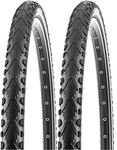 P4B | 2 neumáticos de bicicleta de 26 pulgadas (47-559) | 26 x 1,75 | con protección contra pinchazos K-Shield y tiras reflectantes para una conducción más duradera y más seguridad.