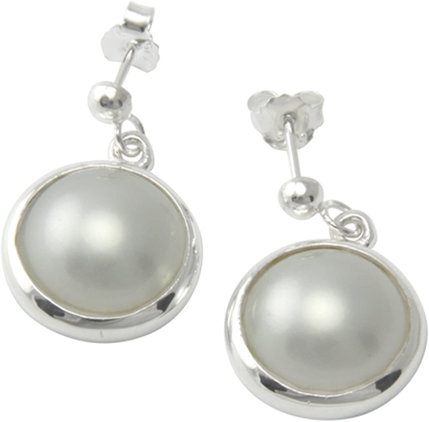 UNIKAT 925 Sterling Silver Earrings with Pearls  goldsmith Quality