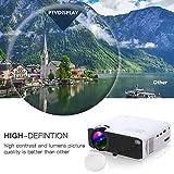 Mini projecteur avec 50,000 Heures et 3500 lumens LED, vidéo Full HD 1080P avec...