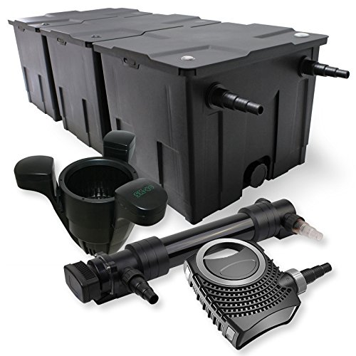 SunSun 3-Kammer Filter Set 90000l 36W UVC 6er Teich Klärer NEO10000 80W Pumpe Skimmer