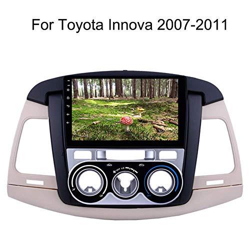 Dispositivo de navegación Navi con pantalla táctil de 9 pulgadas, para Toyota Innova 2007-201, navegación con música Bluetooth 4g Wifi compatible con 64 g Sd Gps Android dispositivo de navegación de coche
