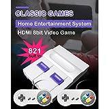 Super Mini NES Retro-Videospiel-Konsole, TV-Spiel-Player, 821 Spiele mit Dual-Gamepads