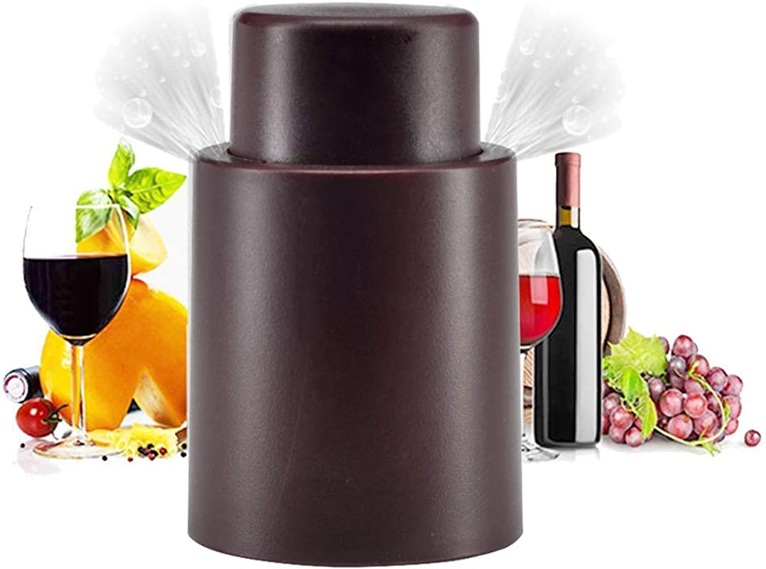 Vacuum Wine Stoppers Wine Bottles Sealers Preservers Vacuum Beverage Bottle Saver With Inner Rubber Remove Air And Vacuum Seal Opened Wine Bottle For 7 14 Days