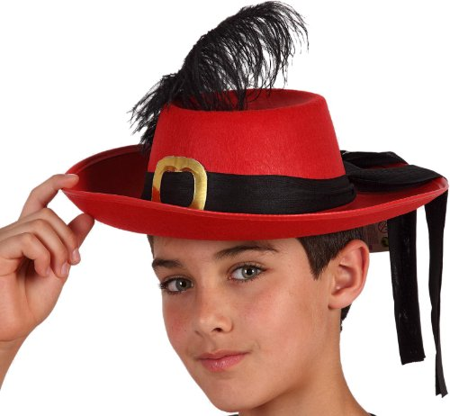 COOLMP  Juego de 3 sombreros con mosquetn rojo para nio, talla nica, sombrero de fiesta, casco, gorro, boca, gorra, tocador, accesorio de disfraz y disfraz