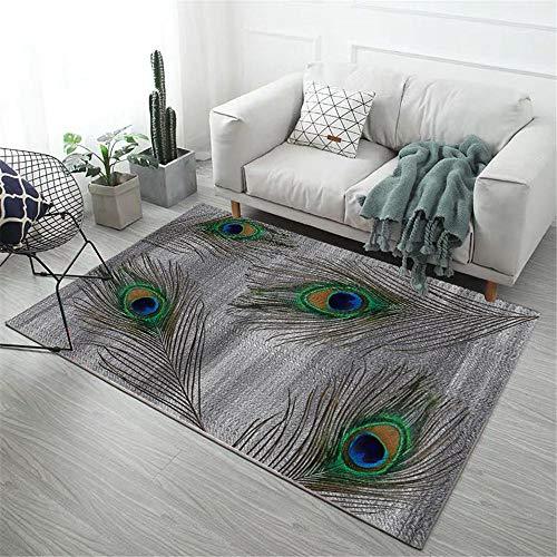 Kunsen büro Teppich Grauer rechteckiger Teppichschmutz mit Maschinenwaschbar terrassendeko deko terrasse 80X120CM 2ft 7.5' X3ft 11.2'