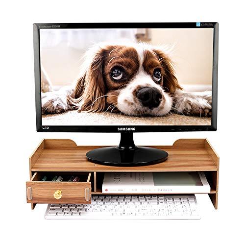 BCLGCF Soporte Vertical para Monitor Organizador De Escritorio - Soporte Vertical para Monitor De Escritorio con Almacenamiento, Laptops Y Computadoras