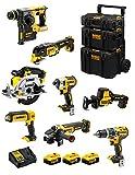 DeWALT Kit DWK802 (DCD796 + DCH273 + DCG405 + DCF887 + DCS355 + DCS369 + DCS391 + DCL050 + 3 Batterie 5,0 Ah + Caricabatterie + Caddy 3en1)
