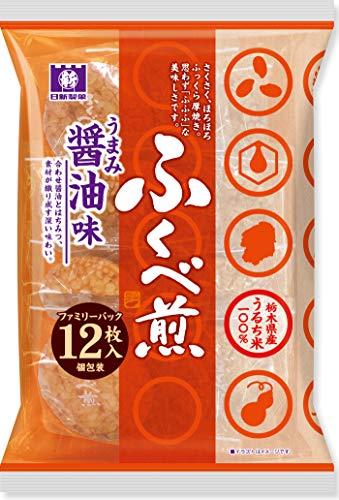 日新製菓 醤油ふくべ煎 Fパック 12枚×12袋