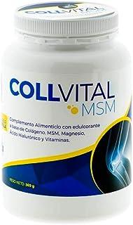Colageno Collvital en polvo con MSM. Magnesio. Ácido hialuronico y vitaminas con sabor a vainilla 368Gr en polvo