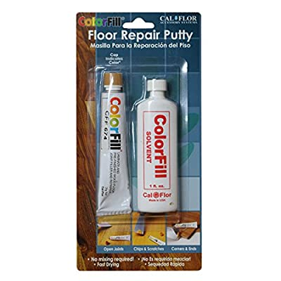 Cal-Flor BP42610 Color-Matched Repair Putty Blister Pack with Solvent