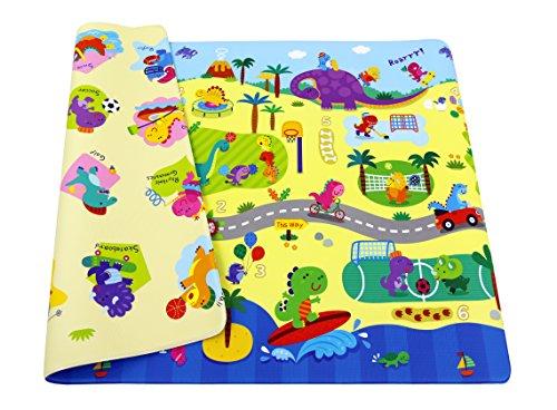 esterilla de juegos para niños - BABY CARE playmat - Dino Sports - Medium - 1,85m x 1,25m x 12mm