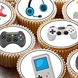 Décorations de gâteaux sur glaçage, 4cm, Xbox, PS, DS, lot de 24