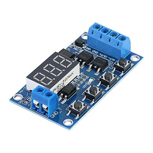 Placa de relé LED digital DC 5-36V Módulo de retardo de temporizador de interruptor de circuito de temporización de ciclo de disparo MOS dual