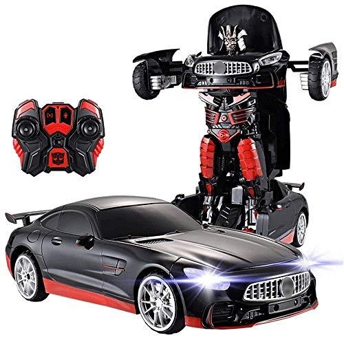 SSBH Induction Deformation + Fernbedienung Transformers Auto-Roboter Optimus Hornet Autobots Mit Waffe Lichter Sounds 360 ° Geschwindigkeit Driften wiederaufladbare Elektro Junge Kinder Spielzeug Gesc