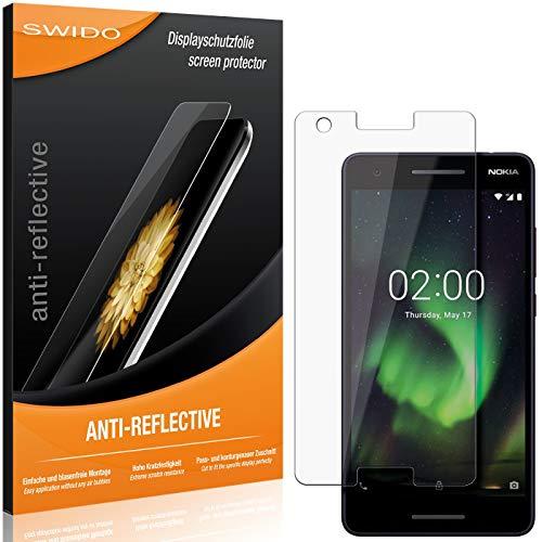 SWIDO Schutzfolie für Nokia 2.1 [2 Stück] Anti-Reflex MATT Entspiegelnd, Hoher Festigkeitgrad, Schutz vor Kratzer/Folie, Bildschirmschutz, Bildschirmschutzfolie, Panzerglas-Folie
