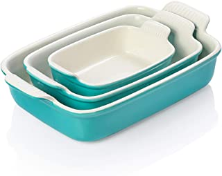 SWEEJAR Porcelain Bakeware Set for Cooking, Ceramic Rectangular baking dish Lasagna Pans for Casserole Dish, Cake Dinner, ...