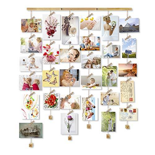 Love-KANKEI MEMORY Cornici Foto Cornice Portafoto, Cornice Multipla per Foto da Parete Wall Decor- 30 Foto