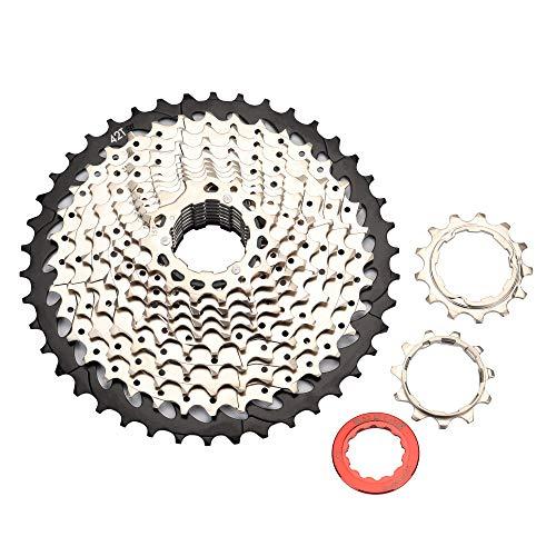 BESNIN Bicicleta Cassette Piñón Bicicleta de Montaña Rueda Libre 8/9/10/11/12 Velocidad 11-50T Cassettes y piñones (11S 11-42T)