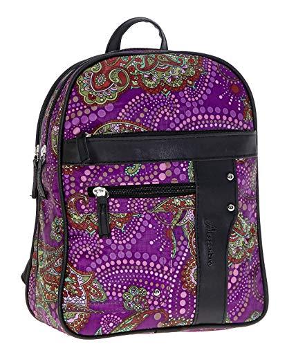 ALESSANDRO Rucksack Damenrucksack Paisley Handtasche Damen 7 LILA