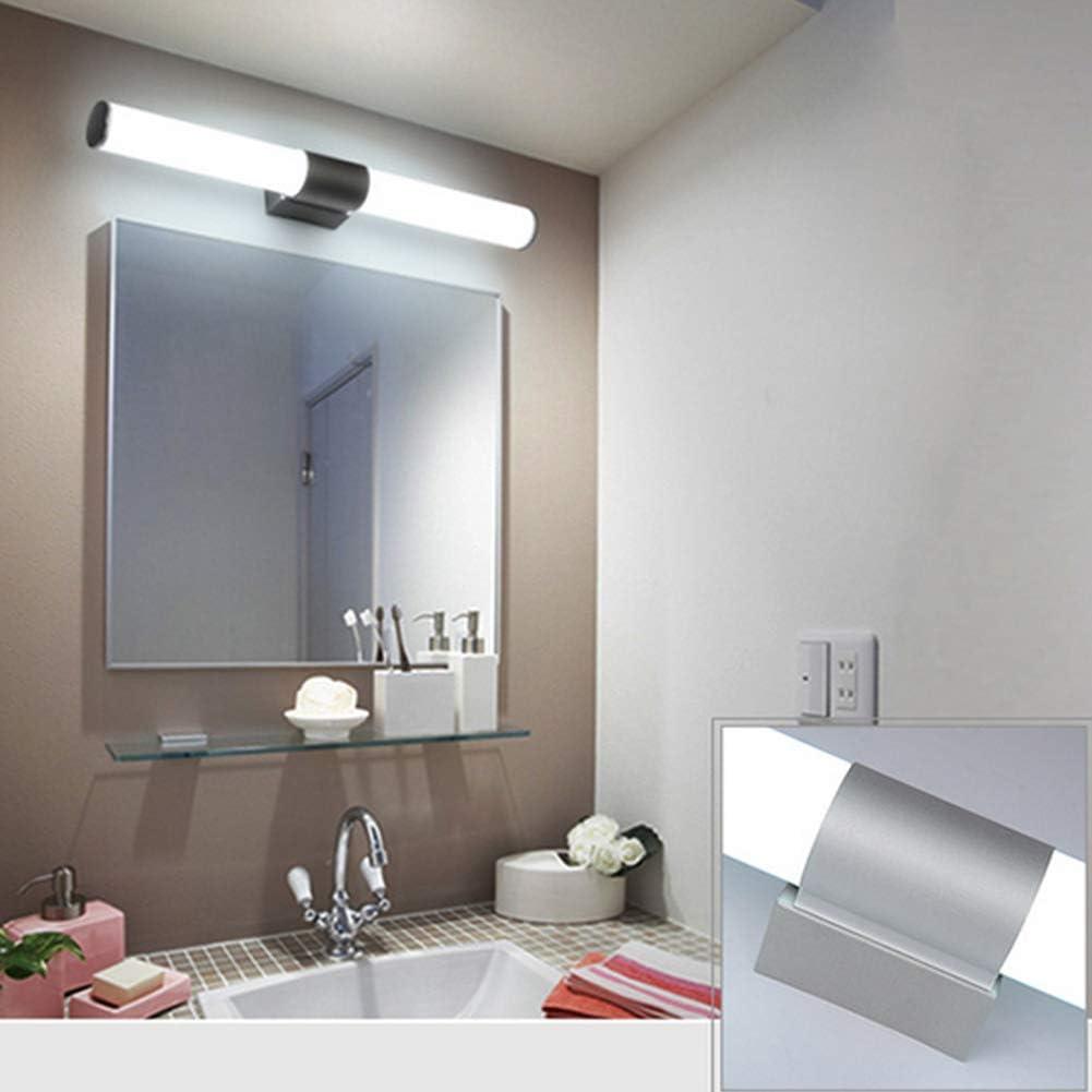 /Économie d/énergie YYWJ Lampe LED pour miroir de salle de bain Style moderne pour la maison Applique murale avec abat-jour ferm/é en acier inoxydable acrylique Lampe LED haute luminosit/é