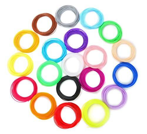 3D Pen/3D Printer Filament 1.75mm PLA 10/22 Kinds of Colors 5M/10M for Each Color