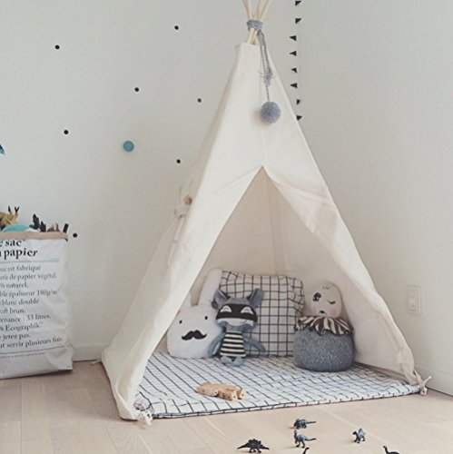 Little Dove Kids Foldable Teepee Play Tent with Carrying Case