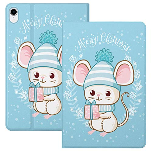 HaoHZ Case for Ipad Air 10.9 Inch 4Th Generation [Support Apple Pencil 2 Charging] Cute Cartoon Case with Trifold Stand, Soft TPU Back Cover Slim Sleeve Shell, Auto Wake/Sleep,Big ear