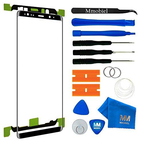 MMOBIEL Front Glas Reparatur Set kompatibel mit Samsung Galaxy Note 8 N950 (Schwarz) 6.3 Inch Display mit Werkzeug-Set