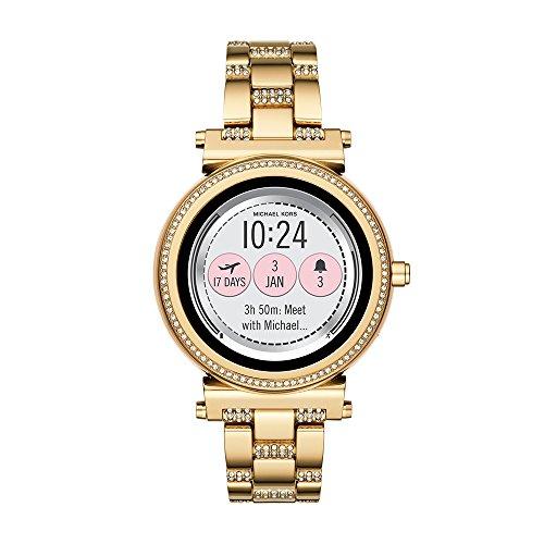 Michael Kors MKT5023 Digitale dameshorloge met roestvrijstalen armband