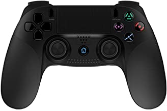 TOONEV Wireless Controller for PS4, Wireless Game Controller with Dual-Vibration Gamepad Joystick for Playstation 4 / PS3 / Windows pc (Black)
