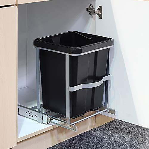 Mojawo inbouw - afvalemmer voor de keuken vuilnisemmer 14L afvalmand vuilnisbak afvalbak