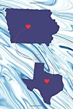 Long Distance Out of State Journal: Iowa & Texas (Two Souls One Heart US States Diary Notebook)