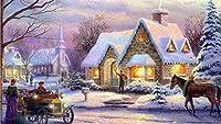 番号でDIYペイントメリークリスマスサンタクロース白雪姫クリスマスギフト油絵キット絵画デジタルキットで子供と大人のためのキャンバスに壁の装飾