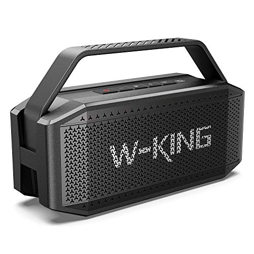 W-KING 60W Bluetooth Speaker - Portable Wireless Speaker with Built-In Microphone - 40 Hours Play Time, 12000mAh Battery Power Bank, IPX6 Waterproof with NFC and TF Card Slot- TWS Outdoor Speaker