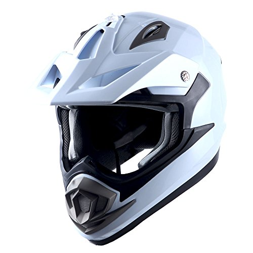 1Storm Adult Motocross Helmet Off Road MX BMX ATV Dirt Bike Mechanic Carbon Fiber Black; Size XL (61-62 cm 23.8/24.1 Inch)