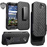 Kyocera DuraForce Pro 2 Case, Ailiber E6910 Holster with Screen Protector, Swivel Belt Clip, Kickstand Holder, Shock Proof Pouch Slim Shell Slide Cover for Verizon Kyocera Dura Force Pro2 - Black