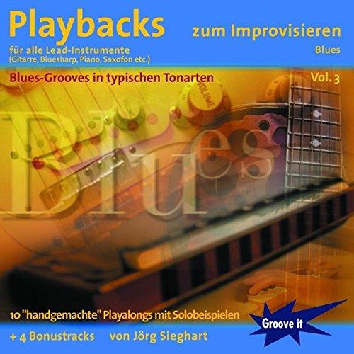 Playbacks zum Improvisieren Vol. 3 - Blues für alle Lead-Instrumente: E-Gitarre, Piano, Bluesharp Mundharmonika, Saxophon etc. - mit Playalongs Solo spielen lernen