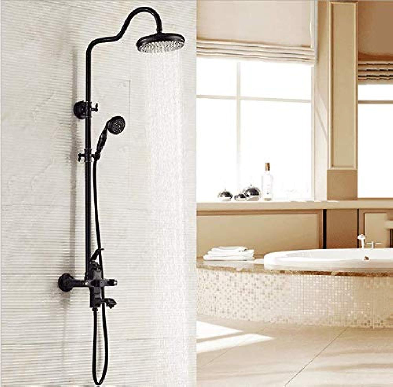 EuropIsch Retro Dusche Duschset Kupfer Schwarz Aufzug Badezimmer Warm Und Kalt Konstante Temperatur Dusche HandgerT.