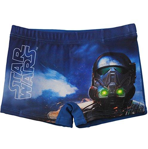 alles-meine.de GmbH Badehose / Badeshorts -  Star Wars - Stormtrooper - Darth Vader  - Größe 4 bis 5 Jahre - Gr. 110 bis 116 - für Jungen Kinder Badepants - Boxershorts Shorts ..