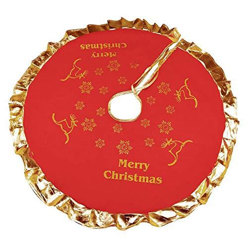 XHONG, Copertura per Base dell'Albero di Natale, Colore Rosso, 91,4 cm, Decorazione per Natale, Vacanze, casa, Feste, A4, 91 cm