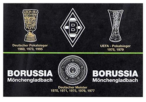 Borussia Mönchengladbach VFL Fohlenelf-Artikel Hissfahne Erfolge, Schwarz, 150 x 100 cm