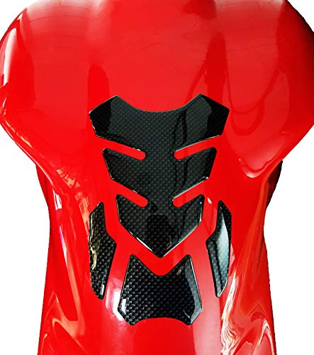 4R Quattroerre.it - 18169 - Protector adhesivo 3D para depósito de moto, Full Carbon Look