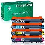 GREENSKY Cartouche de Toner Compatible Remplacement pour Brother TN241 TN245 pour DCP-9020CDW DCP-9015CDW HL-3140CW HL-3150CDW HL-3170CDW MFC-9140CDN MFC-9130CW MFC-9330CDW MFC-9340CDW (4 Paquets)