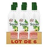 Timotei Shampoing Femme Nutrition Intense, Huile d'Avocat 100% d'Origine Naturelle, Idéal pour les cheveux secs ou abîmés (Lot de 6x300ml)