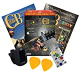 ChordBuddy Guitar Learning System, Clip-On Chromatic Tuner (Black) and Fred Kelly Delrin Flat Guitar Picks (2 Pieces) — Bundle of Guitar Accessories for Beginners - NO DVD, DOWNLOAD FROM APP STORES
