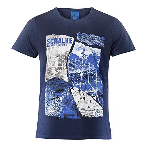 FC Schalke 04 Herren T-Shirt Heritage Navy (L)